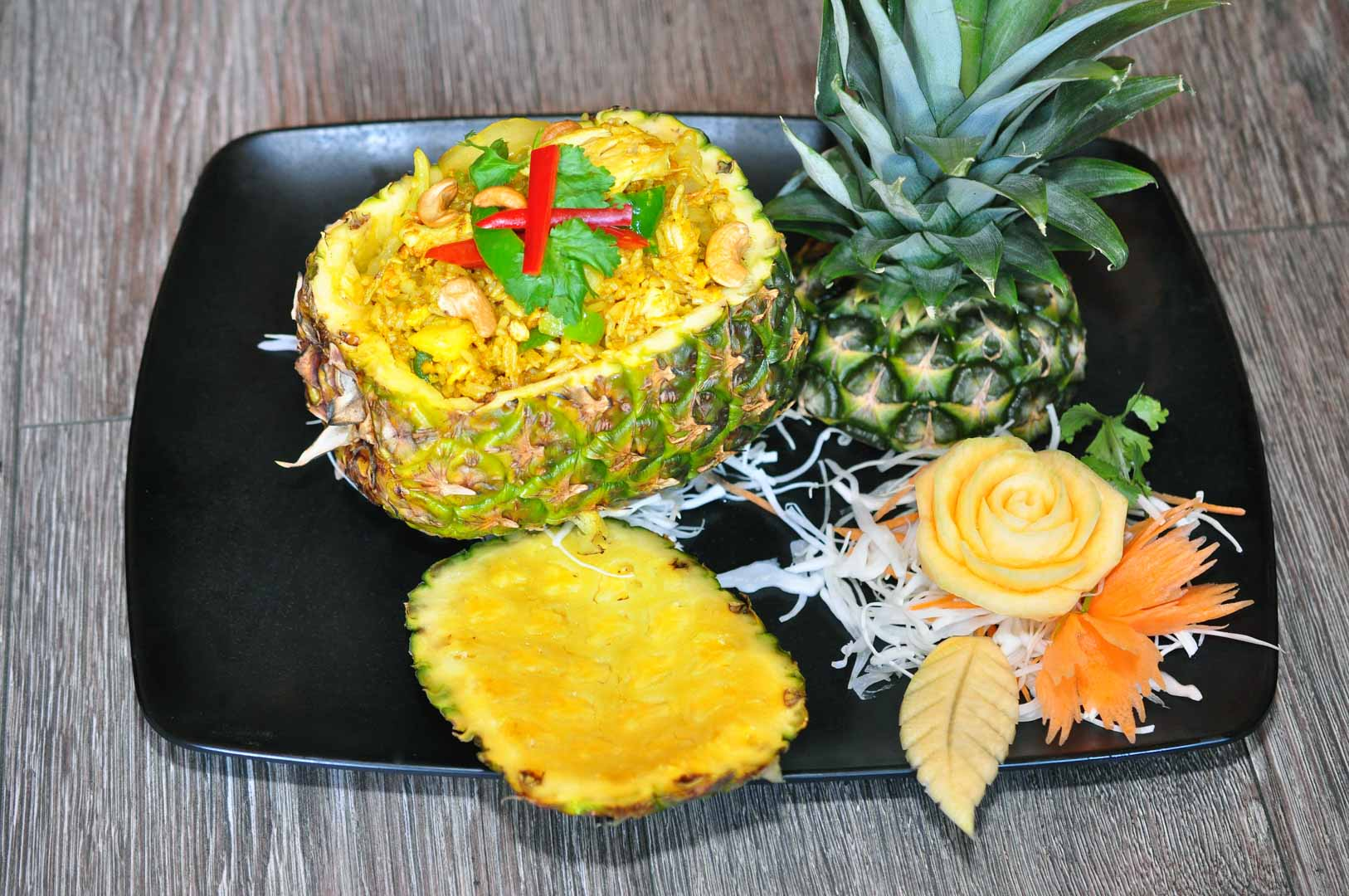 Pineapple Fried Rice with Chicken (G, E, S)